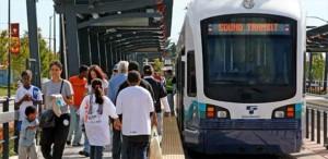 people waiting to board seattle public transit