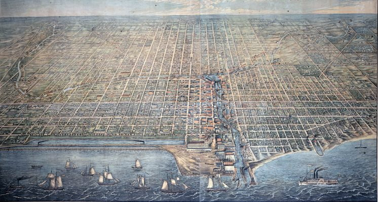 1857 aerial view of chicago