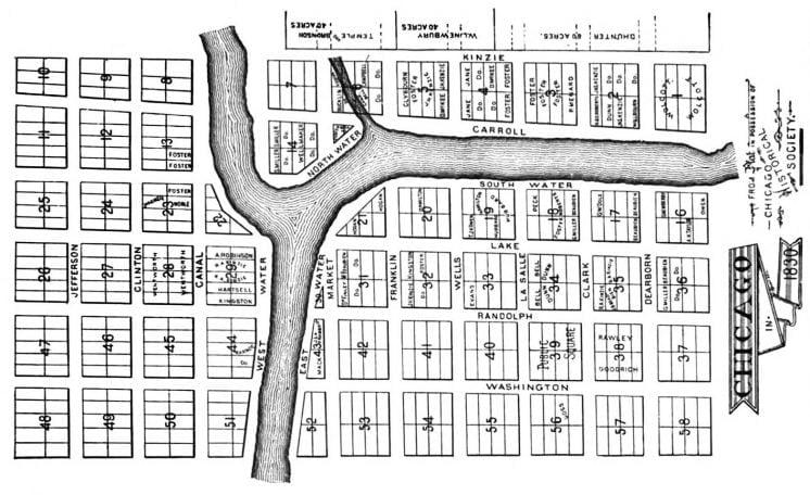 chicago plat 1830