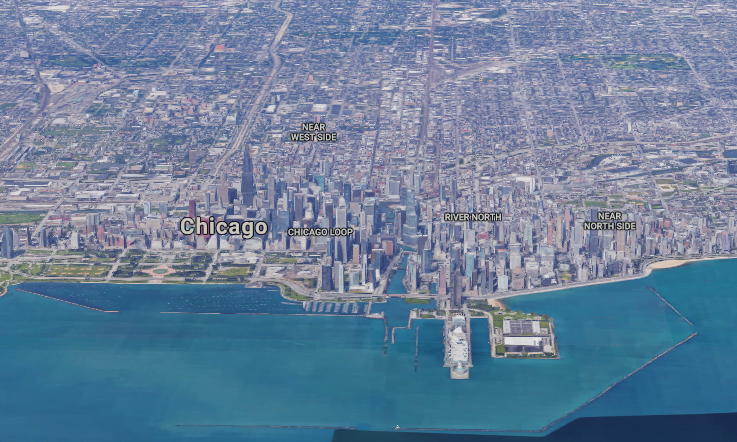 chicago 2016 aerial view